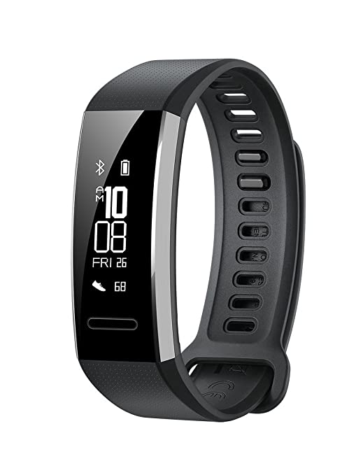 Huawei Band 2 Pro All-in-One Activity Tracker Smart Fitness Wristband | GPS | Multi-Sport Mode| Heart Rate | Sleep Monitor | 5ATM Waterproof, Black ...