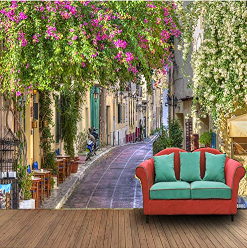 3D Idyllic Path Photo Mural Wallpaper Cafe Restaurant Creative Decoration Wallpaper 3D Floral Mural
