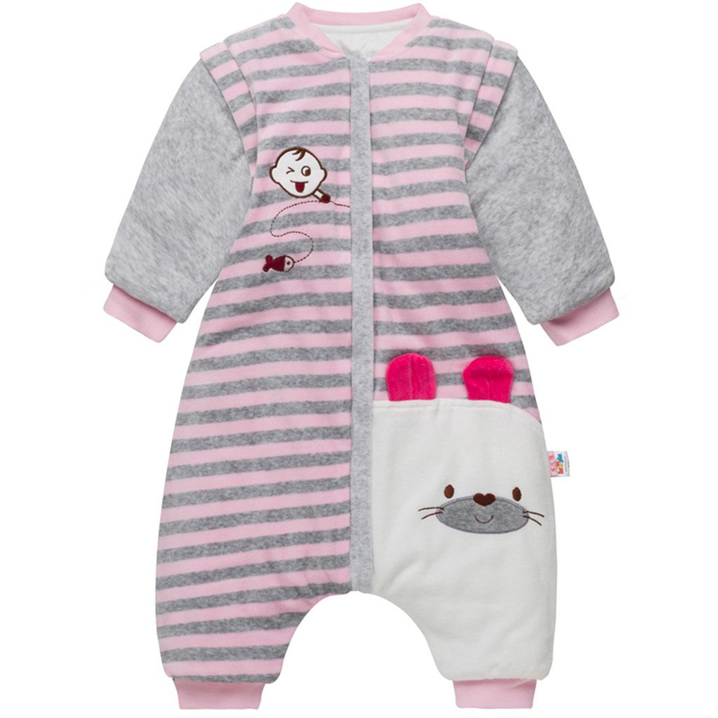 ca091d869 Bebé Saco de Dormir con Piernas Separable Algodón 3.5 Tog Invierno Bolsa de  Dormir Mangas Larga