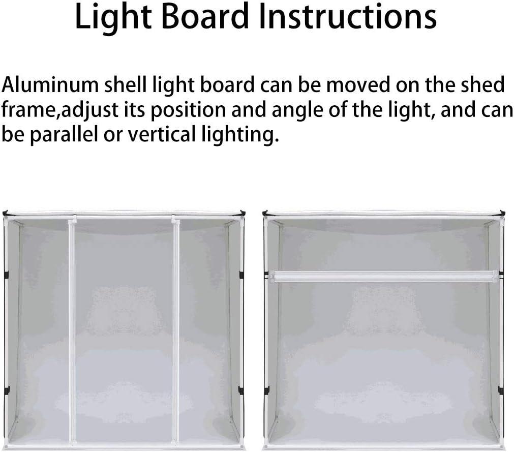 Spare Parts for Photographic Hyx 40W 4250LM 78 LEDs SMD 5730 5500K Aluminum Base Light Panel for 80cm Studio Tent