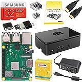 CanaKit Raspberry Pi 3 B+ (B Plus) Starter Kit (32 GB EVO+ Edition, Premium Black Case)