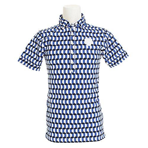 セントアンドリュース(セントアンドリュース) ジオメトリーポロシャツ 042-8160457-110 (ブルー/LL/Men's)