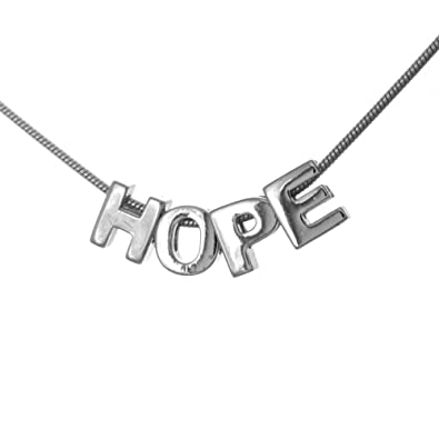 million charms 925 sterling silver mini hope letter charm necklace