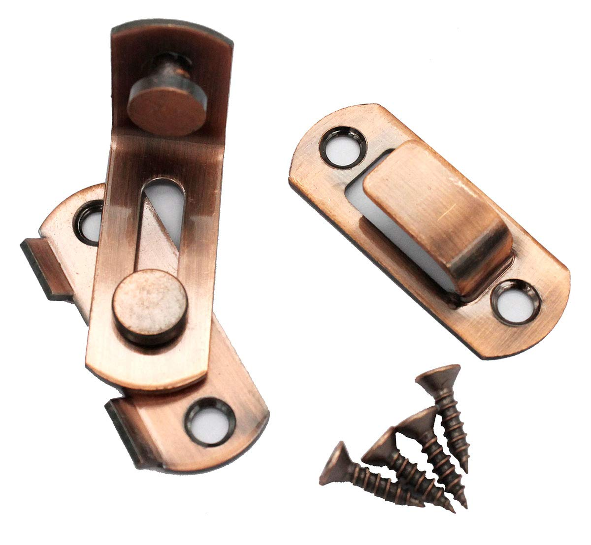 90 Degree Right Angle Door Latch Hasp Bending Latch Buckle Bolt Sliding Lock Barrel Bolt with Screws for Doors and Windows dingchimo