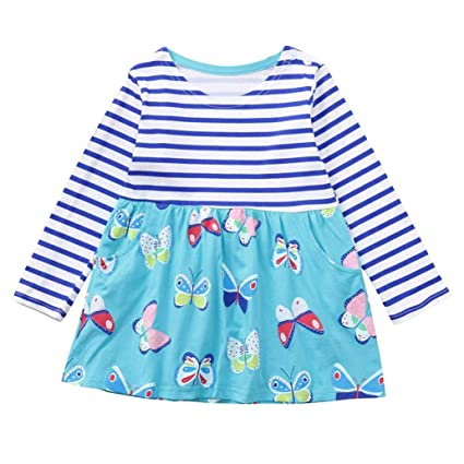 Amazon Com Little Girl Autumn Cartoon Dress Jchen Tm