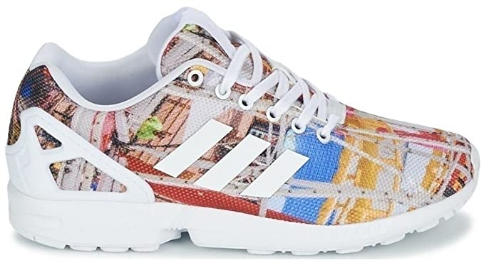 d3a6ed717 Image Unavailable. Image not available for. Colour  Adidas - ZX Flux -  S75492 - Color  Blue-White-Yellow - Size