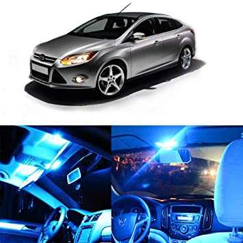 cciyu 10 x hielo azul Kit de luces LED Paquete completo interior bombilla para Dodge Ram