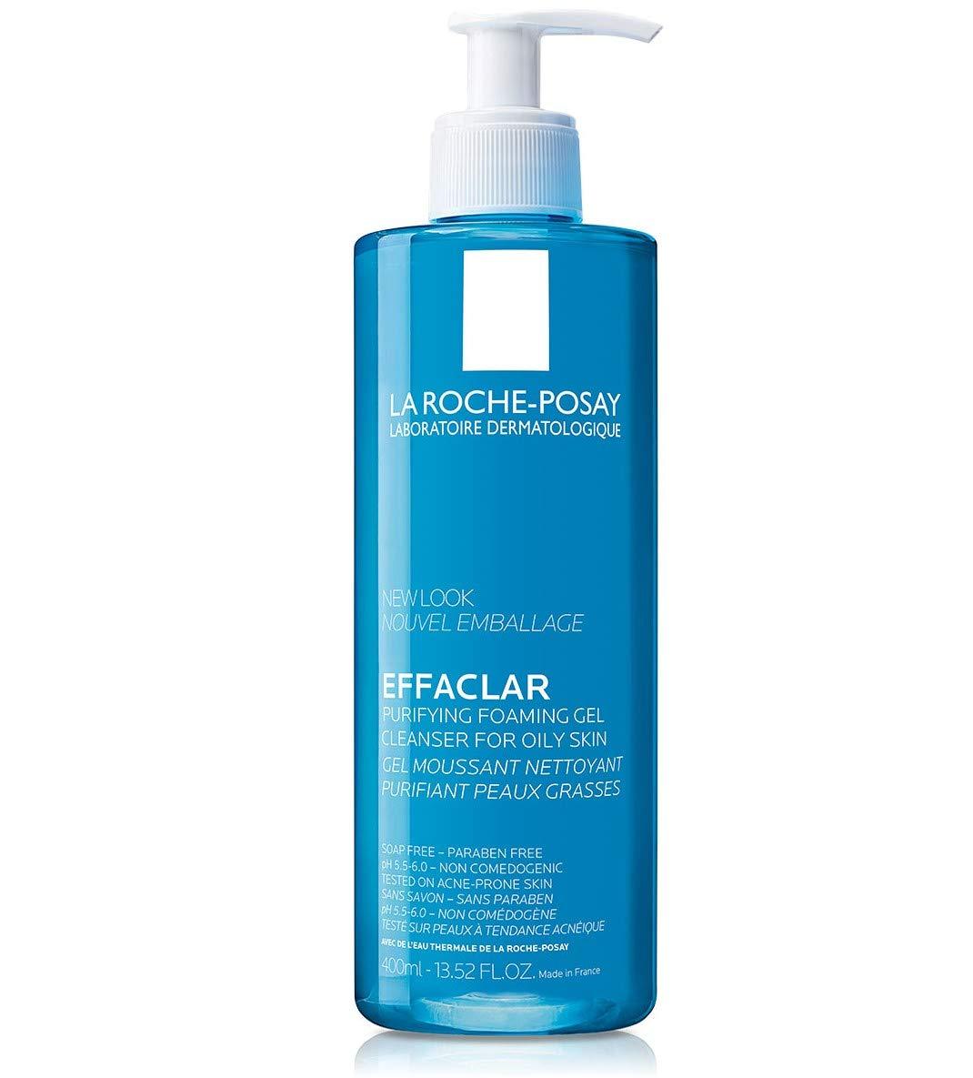 La Roche-Posay, Crema gel mousse limpiador facial, 400 ml