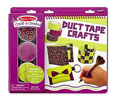 Melissa & Doug Craft and Create Duct Tape Crafts Kit - 3 Rolls of Tape, Hook-and-Loop Dots by Melissa & Doug