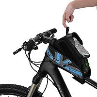 ROCKBROS Bolsa de Bicicleta Cuadro Impermeable para Manillar
