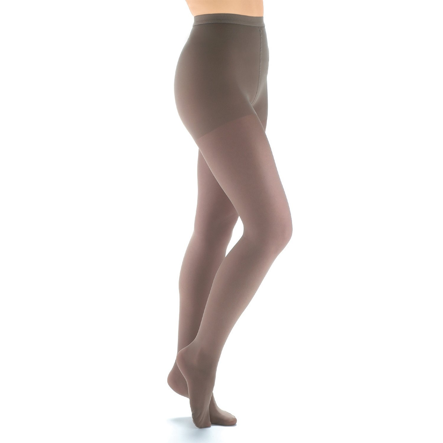 Women's Moderate Compression Pantyhose - Support Plus - Beige - Queen Plus