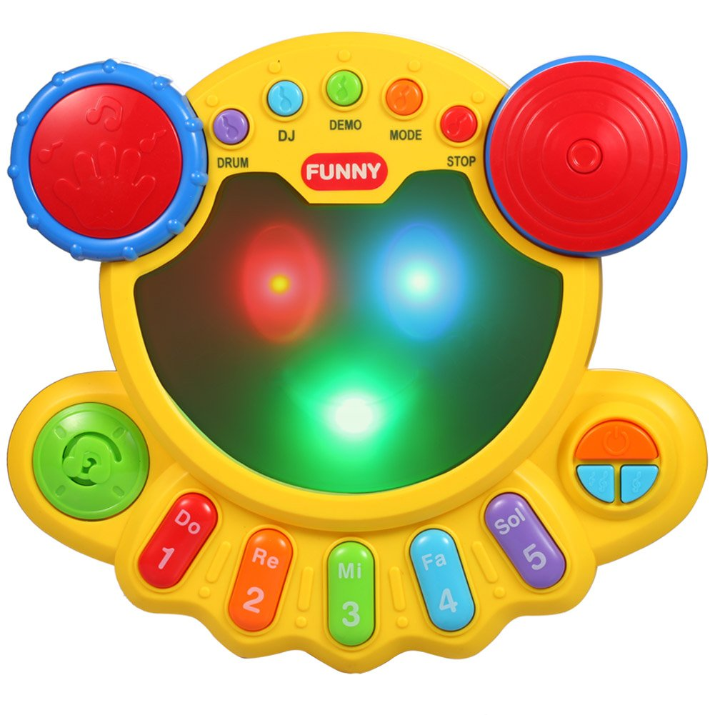 Amazon com: KAWO Musical Drum Toy Baby Beats Musical Toy Many