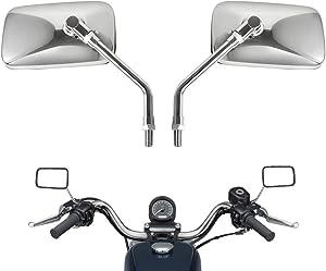 10 mm Chrome Motorcycle Universal Handlebar Rear view Side Mirrors For Harley KTM Aprilia Honda Kawasaki Suzuki Cruiser Scooter