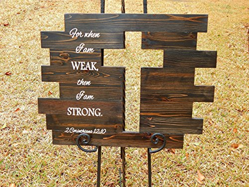 Wood Wall Cross Sign Rustic Bible Scripture