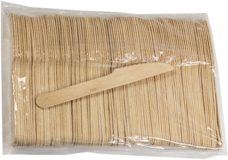 Couteau 15.6cm*3.4cm*0.18cm Shiwaki 100pcs Bouleau Cuill/ères En Bois Kit De Couverts Jetables En Bois