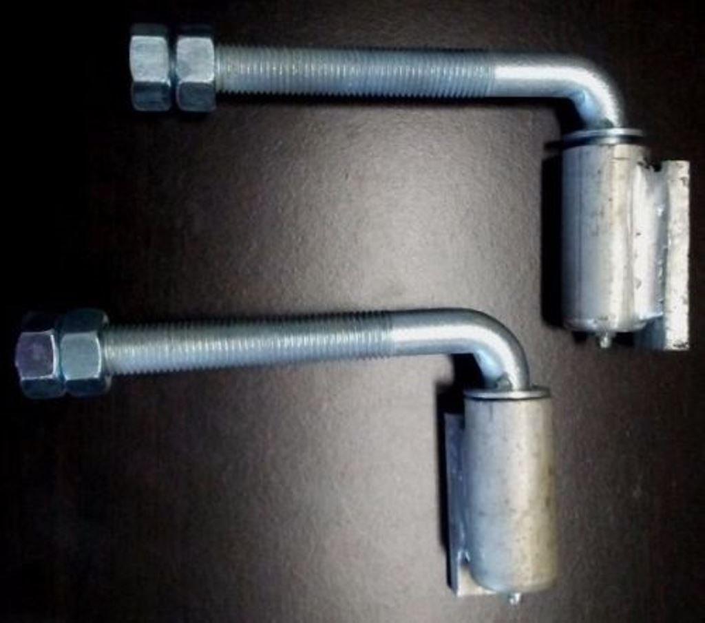 Pair of 3/4'' Aluminum Adjustable Barrel Hinge with Steel J-Bolt