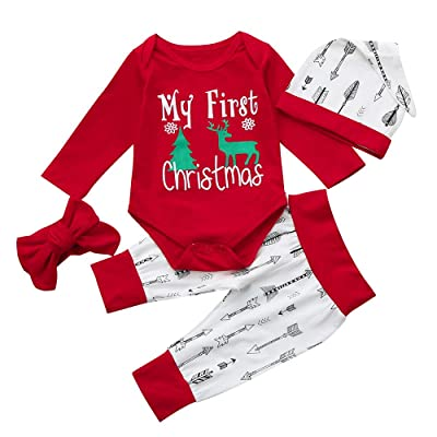 e0afcf245a53 Carter s Baby Girls  1-Piece Fleece PJs Santa  Christmas Trees Pink ...
