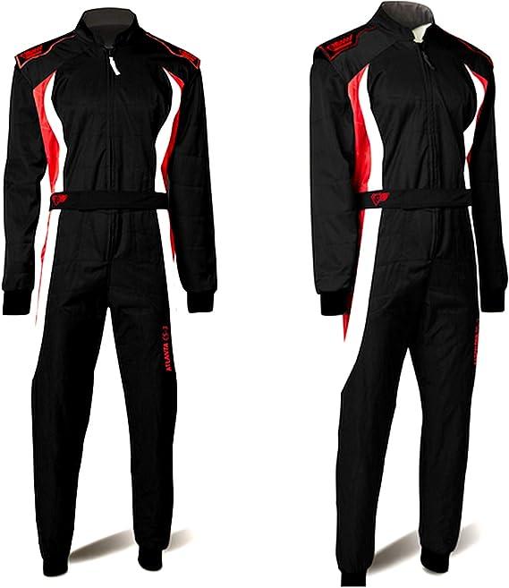 Speed Overall Cordura Atlanta Cs 3 Schwarz Weiß Rot Hochwertiger Kartoverall Bekleidung