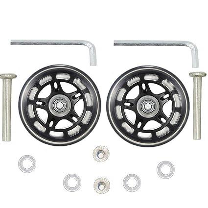 1 par de ruedas de repuesto para maleta de 70 x 22 mm con rodamientos de