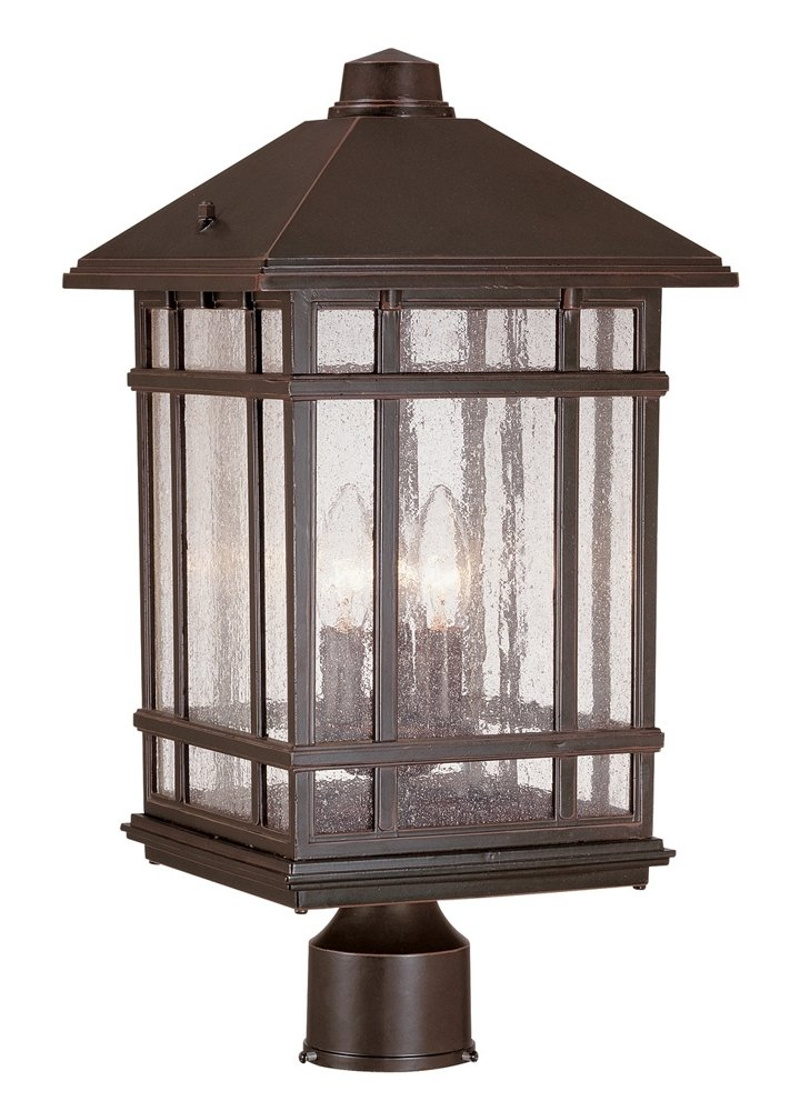 J du J Sierra Craftsman 18'' High Outdoor Post Mount Light