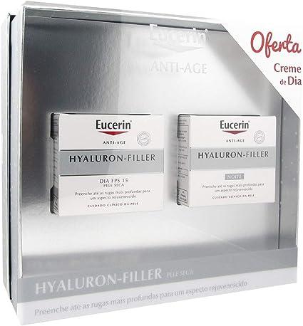 Eucerin Pack Hyaluron Filler Antiarrugas Crema De Día Piel Seca 50ml + Hyaluron Filler Crema De Noche 50ml: Amazon.es: Belleza