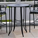 Cheap Pemberly Row Iron Antique Black Bar-Height Patio Bar Table