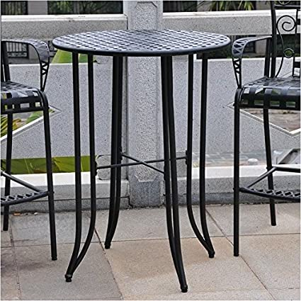 Stupendous Pemberly Row Iron Antique Black Bar Height Patio Bar Table Download Free Architecture Designs Scobabritishbridgeorg
