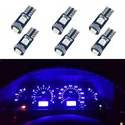 WLJH 6pcs T5 cuña instrumento Panel 74 2721 3030SMD Canbus ...