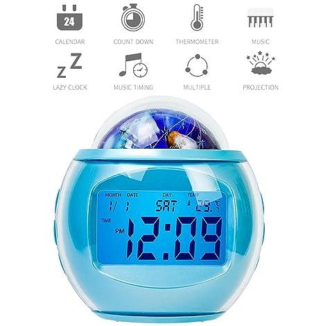 Despertador de la proyección,Despertador digital,Proyección del reloj de alarma en el techo