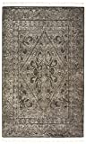 Stone & Beam Mid-Century Modern Constellation Wool Rug, 5' x 8', Charcoal