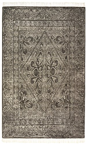 Stone & Beam Mid-Century Modern Constellation Wool Rug, 5' x 8', Charcoal by Stone & Beam