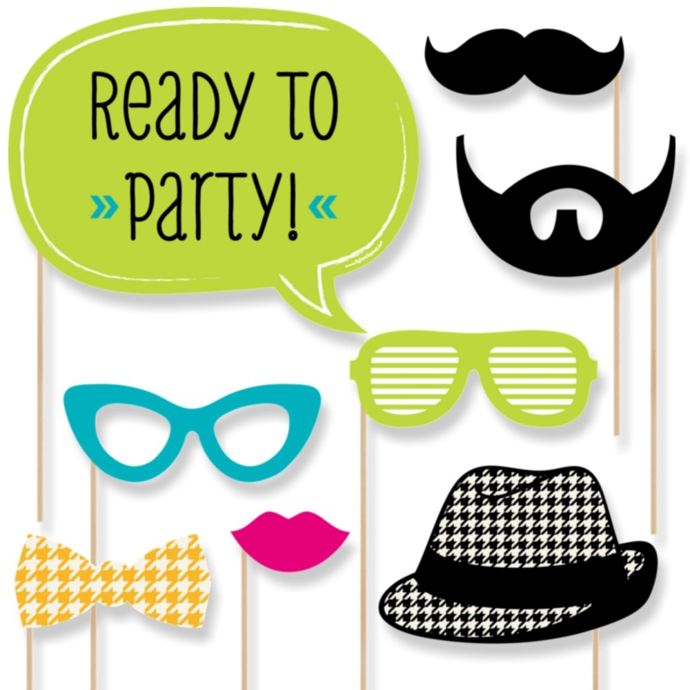 Big Dot of Happiness Ready to Party - Photo Booth Props for Kids - 20 Count by Big Dot of Happiness (Image #6)