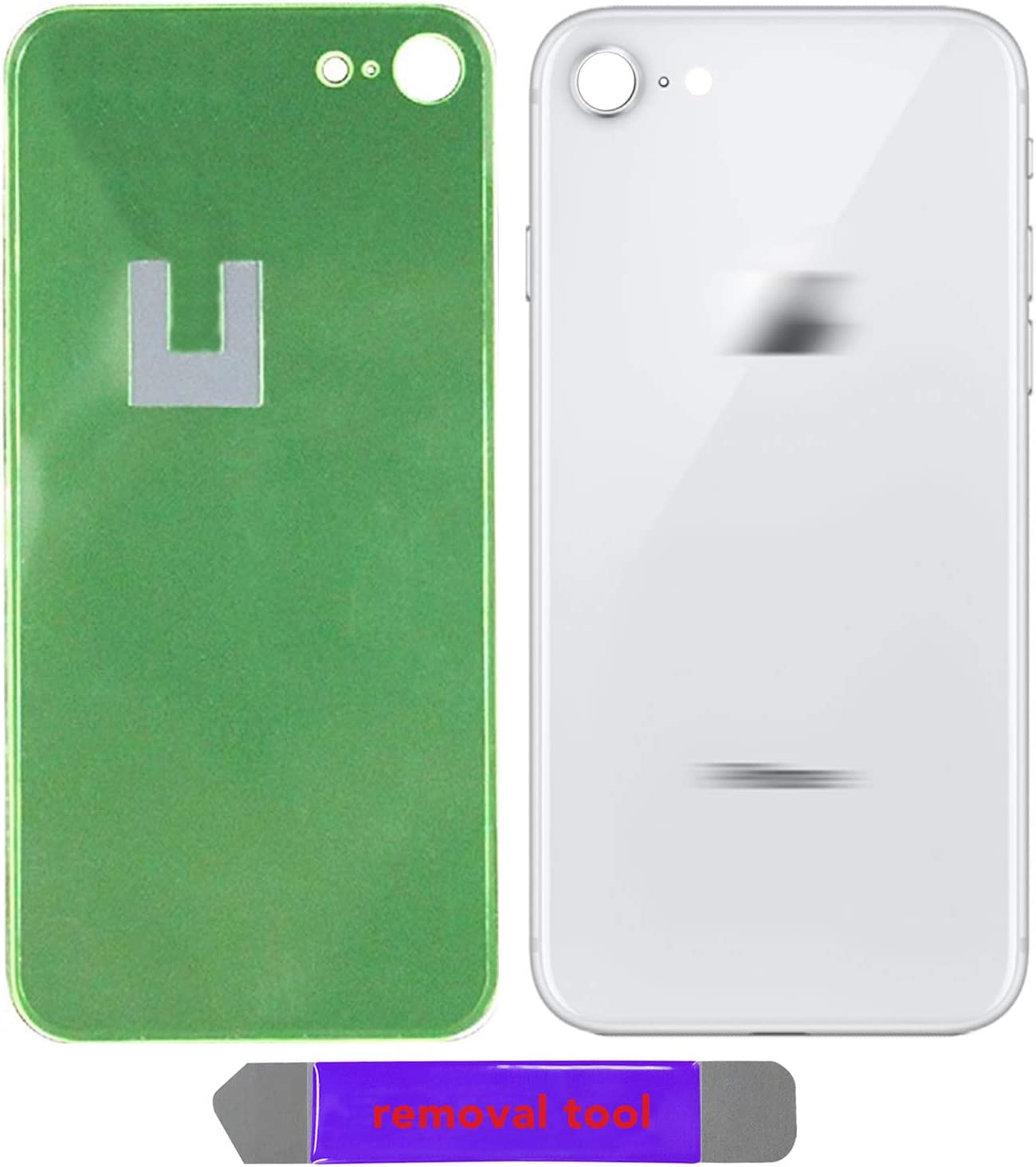 i8 Back Glass Replacement Battery Door Cover OEM Quality /& Compatible with The iPhone 8 All Carriers w//Removal Tool Gold