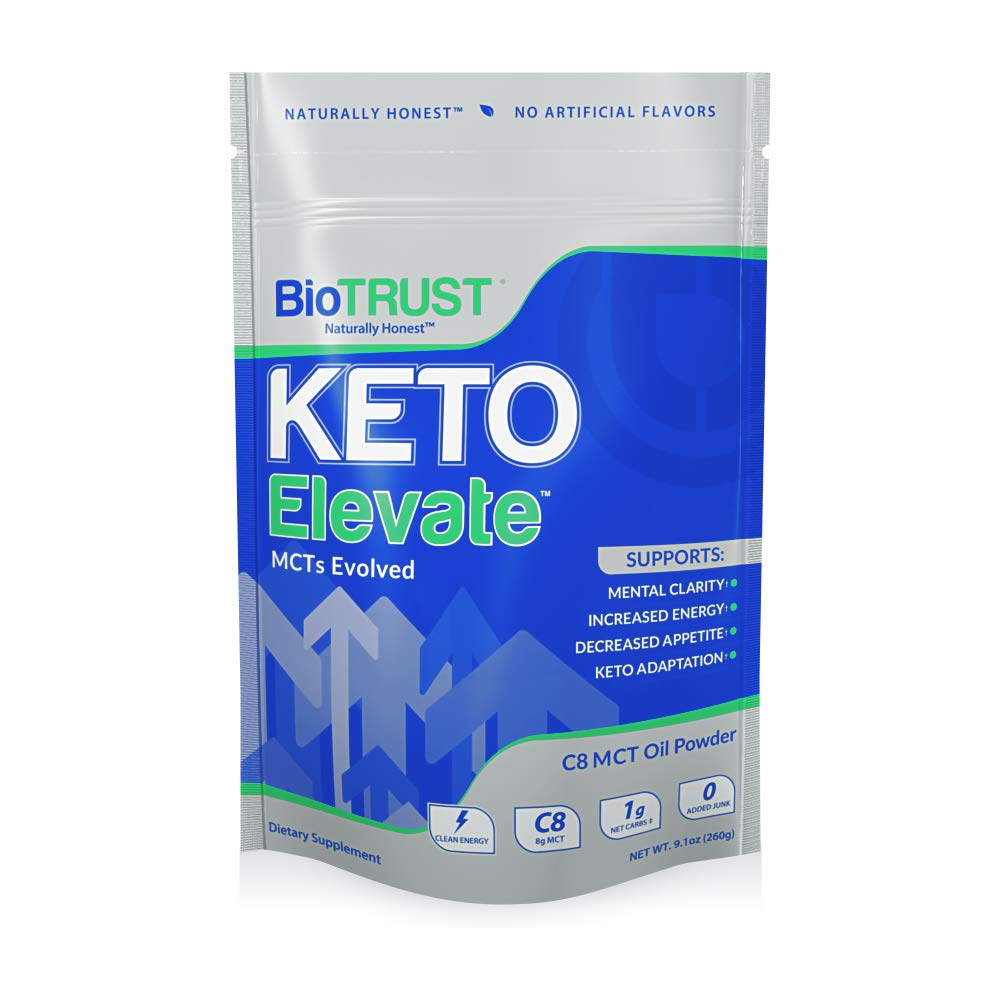 BioTrust Keto Elevate - Keto Boosting Pure C8 MCT Oil Powder | Ketogenic Diet Supplement | Keto Coffee Creamer | 100% Caprylic Acid