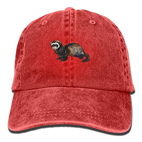 Ferret Baseball - HATS NEW Funny Ferret Denim Hat Adjustable Men Curved Baseball Hat