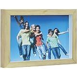 Porta Retrato Mini Wood Kapos Natural/Branco 15 x 10 cm