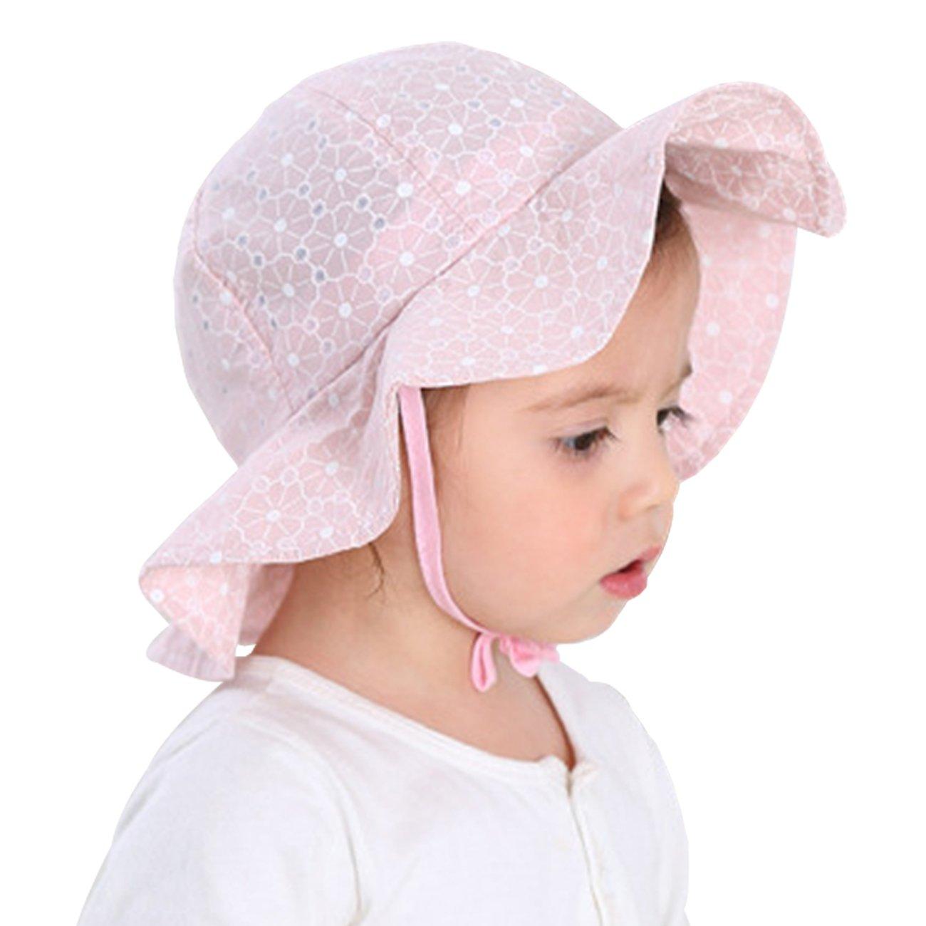 DRESHOW HAT ベビーガールズ 6 Month - 3 Year Lace Pink B07BF9B49N