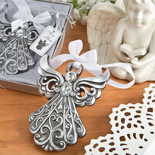 Silver Angel Ornament with Antique Finish (75)