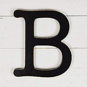 """UNFINISHEDWOODCO 300561 Typewriter Wall Decor Letter B, 11.5"""", Black"""