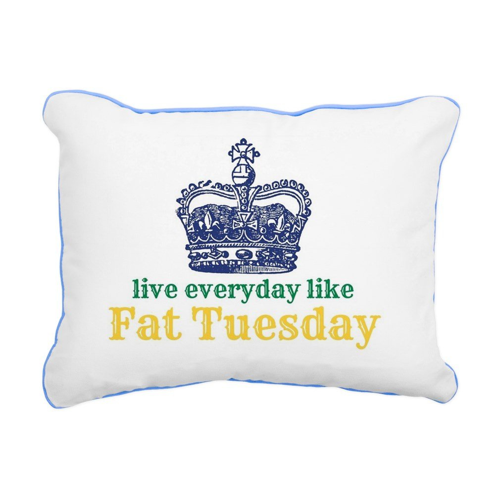 CafePress - Live Everyday Like Fat T - 12''x15'' Canvas Pillow, Throw Pillow, Accent Pillow