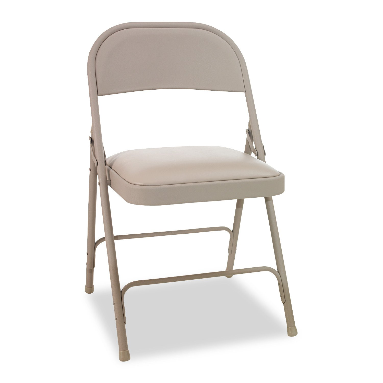 Pleasing Alera Ale Steel Folding Chair With Two Brace Support Padded Seat Tan Case Of 4 Theyellowbook Wood Chair Design Ideas Theyellowbookinfo