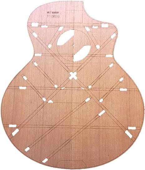 B Baosity 41 Tipo De Madera JF Plantilla De Cuerpo De Esquina Guitarra Folklórica Fabricación De Moldes Herramienta Luthier: Amazon.es: Instrumentos musicales