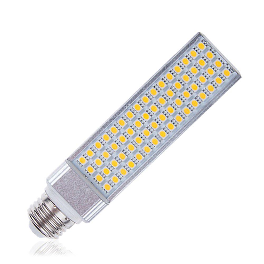 YCDC 13W Horizontal Plug Lamp LED Light Warm White Conference Room Bulbs E27 X 1 by YCDC