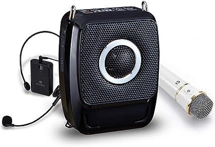 Amplificateur De Voix Portable 25W Mini Audio Bluetooth Haut-Parleurs USB avec Amplificateur De Voix sans Fil UHF pour Les Enseignants du Tourisme