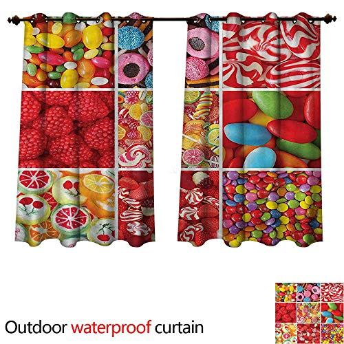 cobeDecor Colorful Outdoor Curtain for Patio Sweet Candies and Bonbons W55 x L45(140cm x - Bon Chef Shell