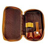 Genuine Leather Safety Razor & Double Edge Blade Protective/Travel Case from Parker Safety Razor - SADDLE BROWN -
