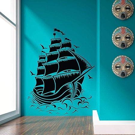 guijiumai / náutico Velero Barco Pirata Tatuajes de Pared ...
