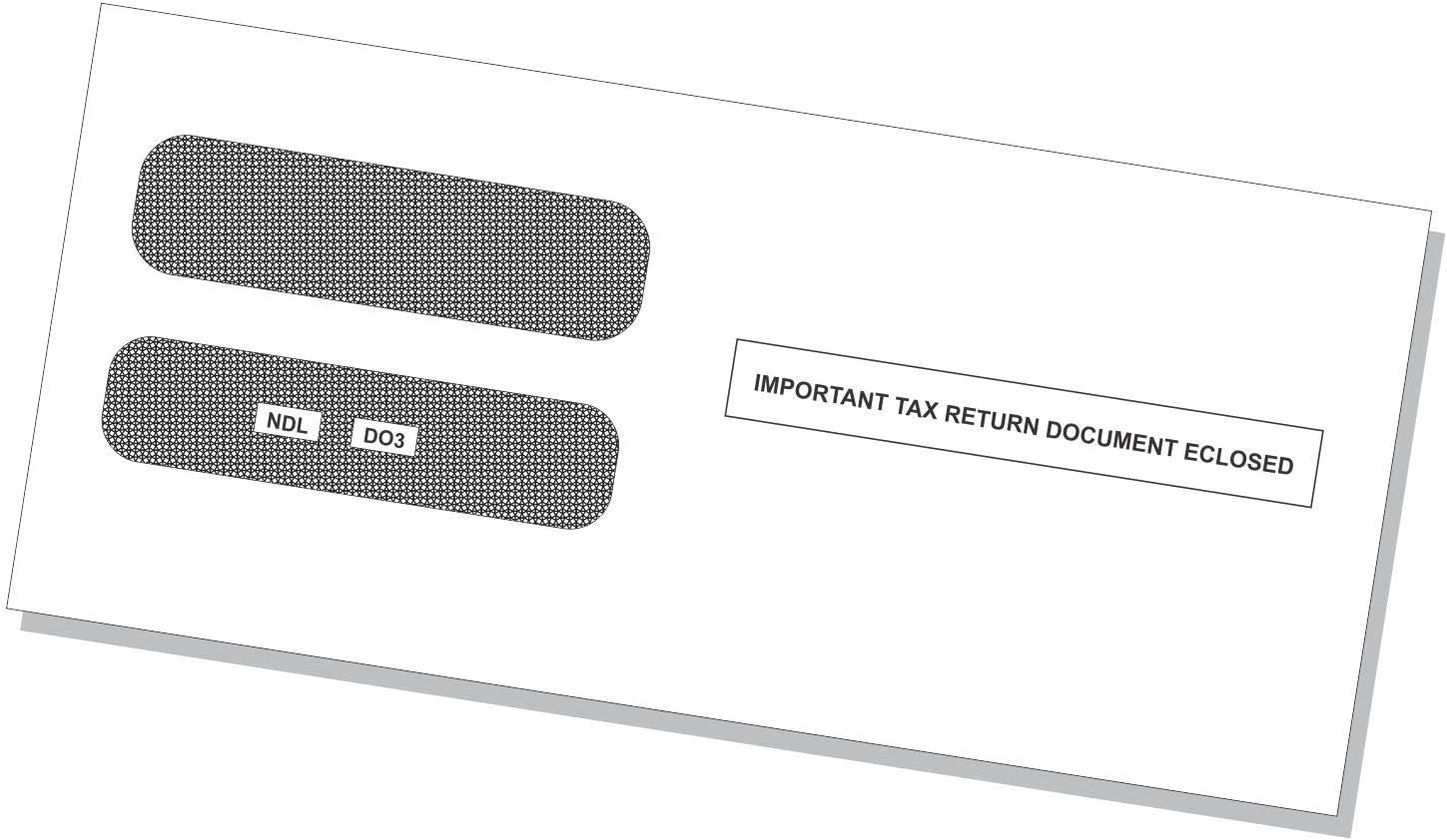 50 Sheets Printed Both Sides /& Envelopes Horizontal Format 2019 3 UP Laser W-2 Forms Employee Copy