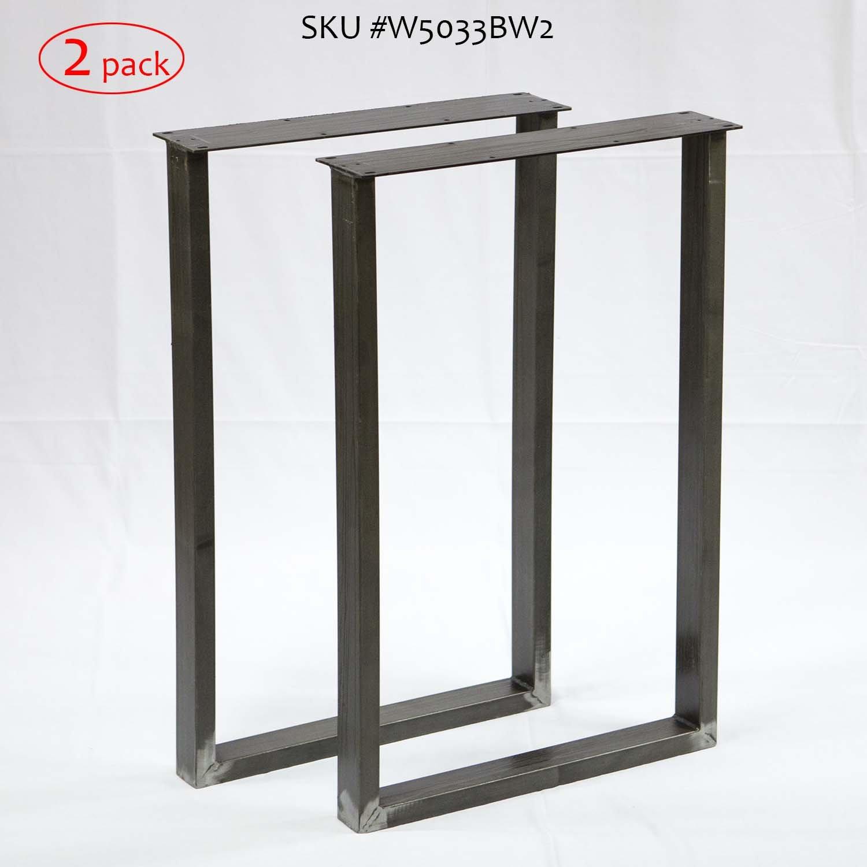 H 28 inch, Table Legs U Shape for Writing Desk Table, 2 Pack Ltd.