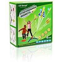 Great Xmas Gift for Boys and Girls: STEM with Fun, Step Powered Stomp Rockets- Stunt Planes and Launcher with 4 Amazing…